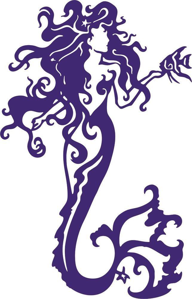 Details About Tribal Mermaid Fantasy Ocean Girl Fish Car Truck - Mermaid custom vinyl decals for car