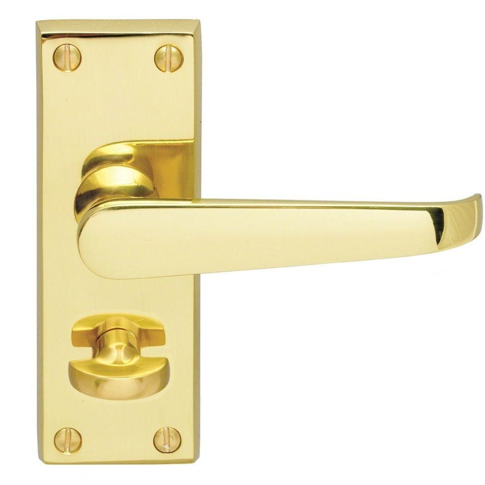 Victorian Straight Lever Door Handle On 153mm X 41mm