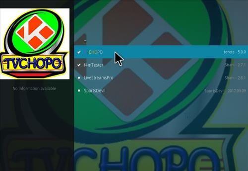 How to Install TV Chopo Kodi Add-on with Screenshots step 17