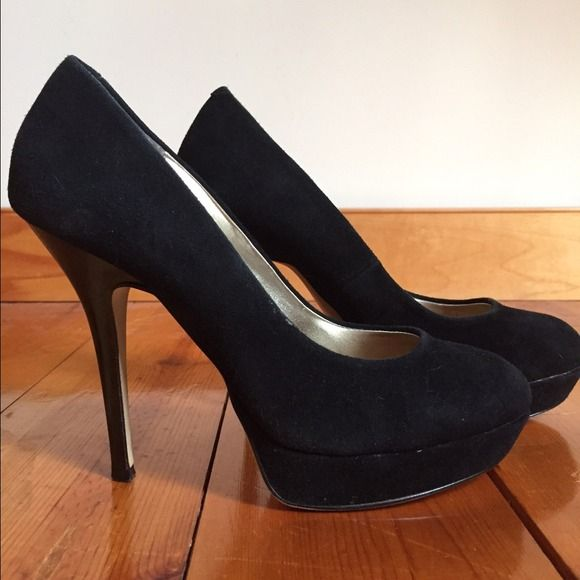 👠 Bakers platform heels⬛ | Black suede pumps, Black suede and ...