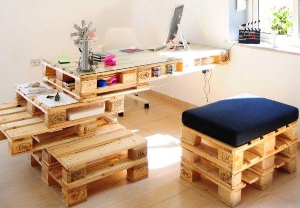 Faire un bureau en bois de palette des modèles recyclage