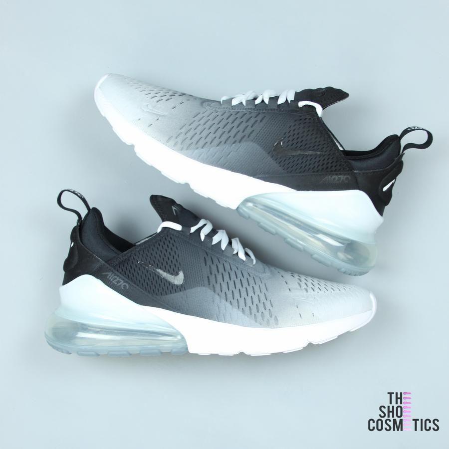 Black Ombre Nike Air Max 270 Custom Sneakers | Nike air max