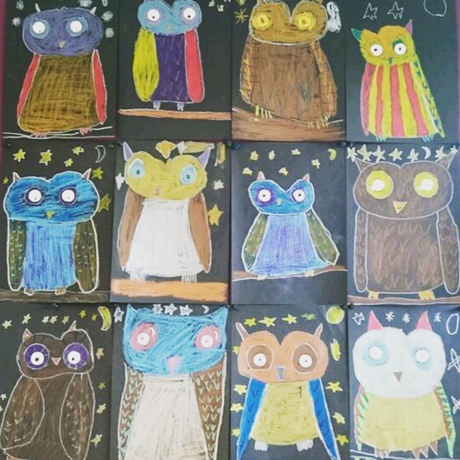 Owl art art ideas for kids pinterest owl art owl and