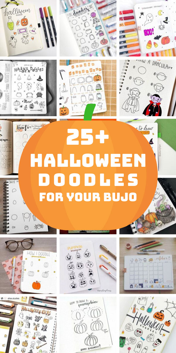 25+ Halloween Doodles You Need in Your Bullet Journal this