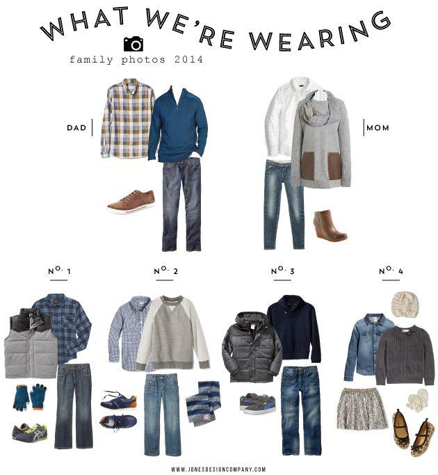 what we're wearing (family photos 2014)   Jones Design Company