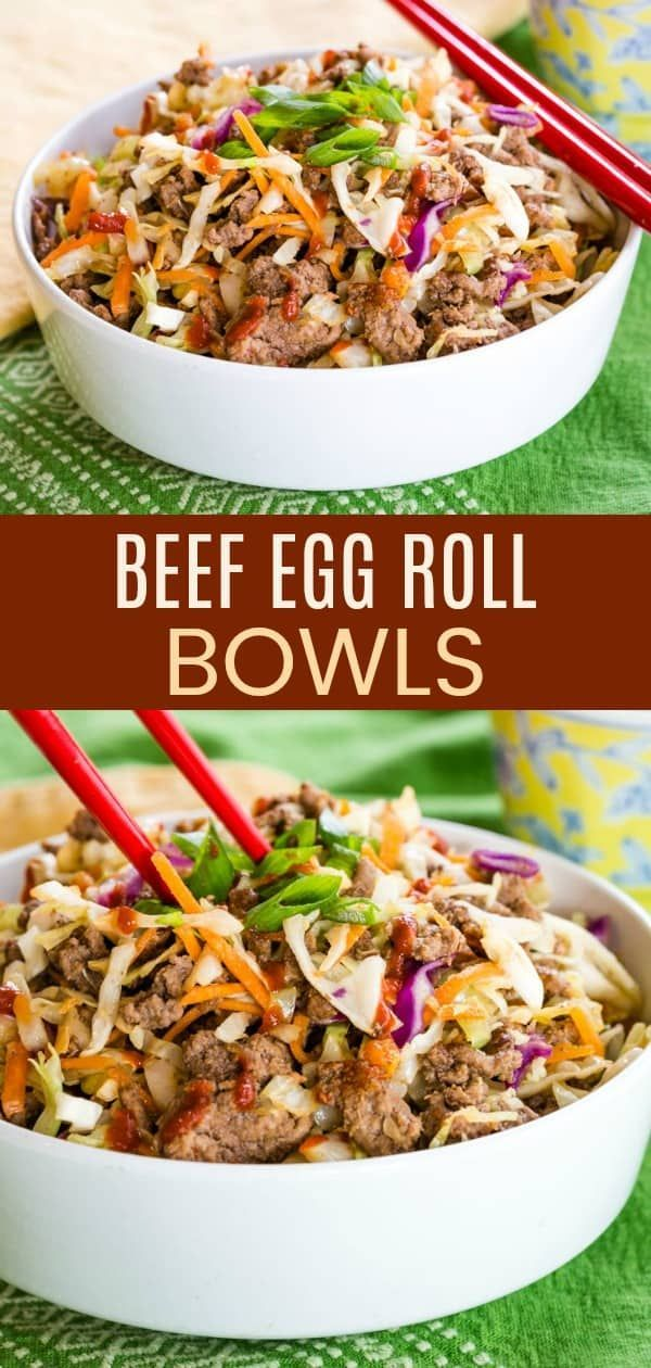 Easy Beef Egg Roll Bowls with Ground Beef