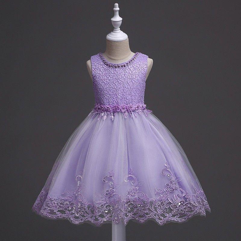 Girls Toddler Pageant Dresses for Teens Lilac Flower Girls Dress 2 3 4 5 6 8 10+