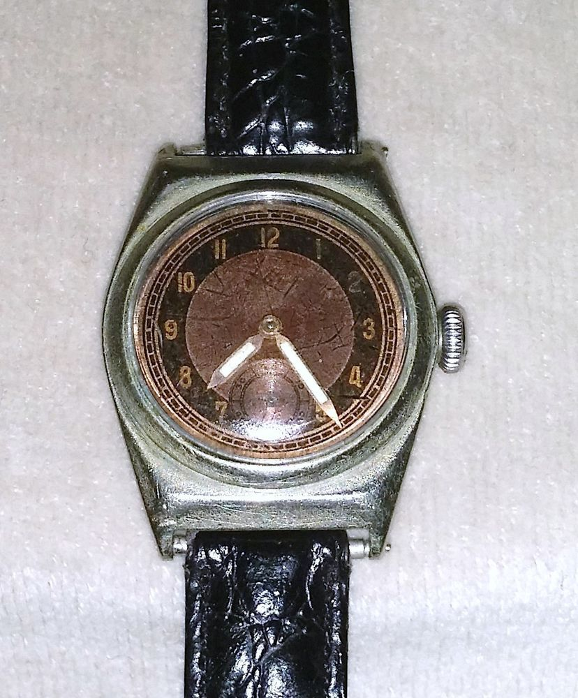 Vintage Francois Borgel Taubert Amp Fils Case Watch Working