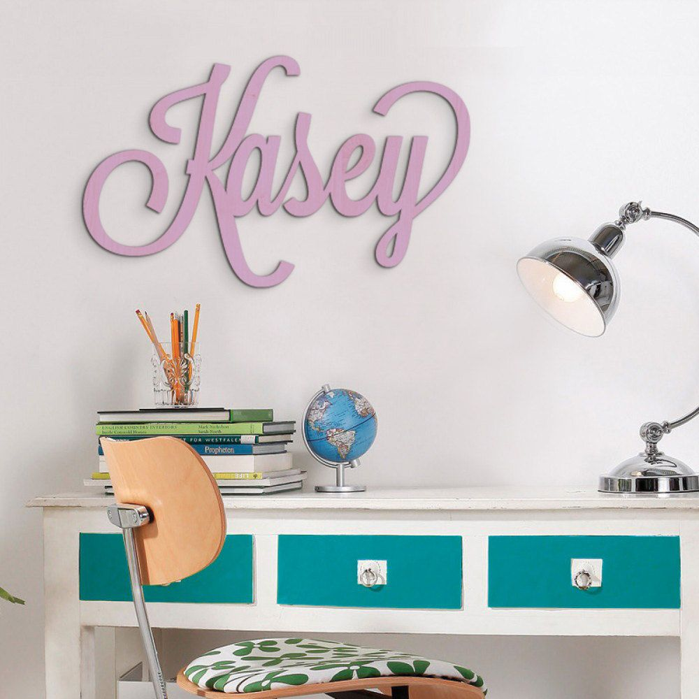 Large Custom Wooden Name Sign Personalized Plaque Door Hanger Nursery Decor