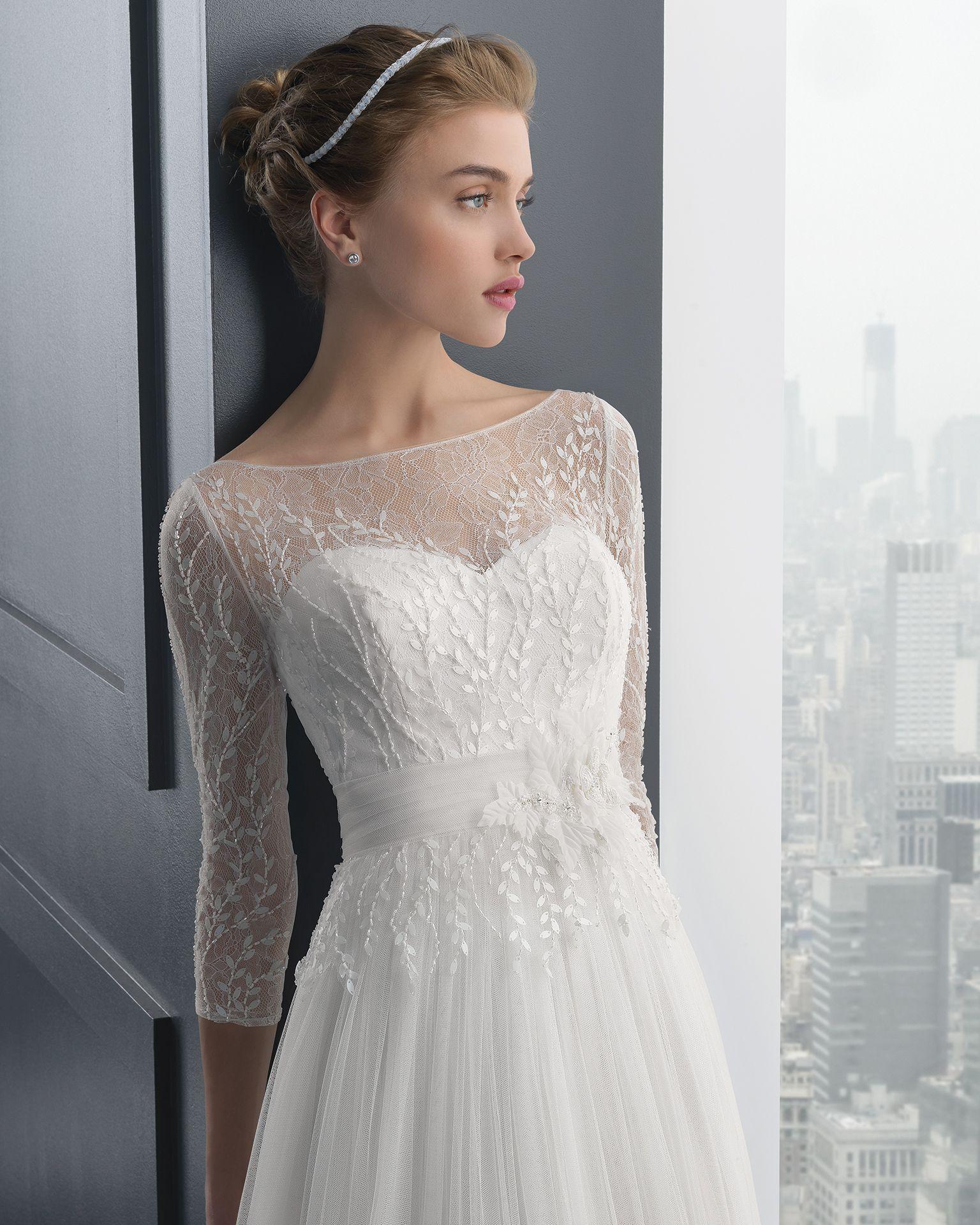 Vestidos de novia y fiesta | Rosa clara, Beaded lace and Wedding dress