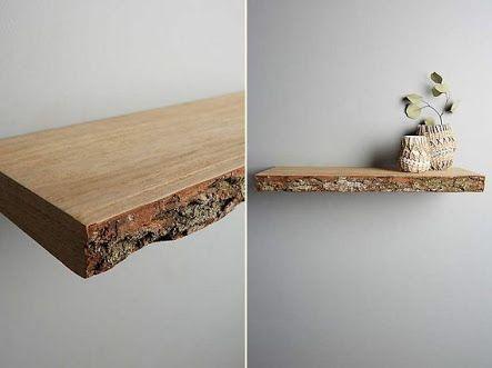 Raw Edge Timber Corner Shelf Oak Floating Shelves