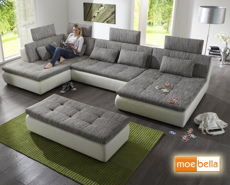 Big Sofa mit Bettfunktion Wohnlandschaft Sofa Free | divani ...