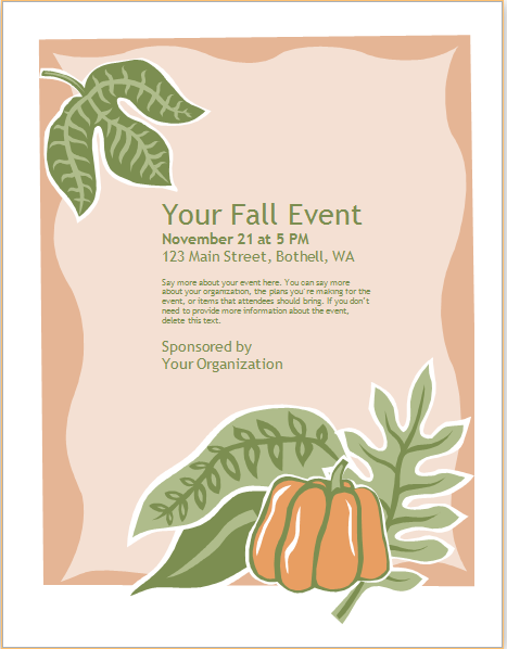 Seasonal Event Flyer Template At Httpworddoxseasonal Event