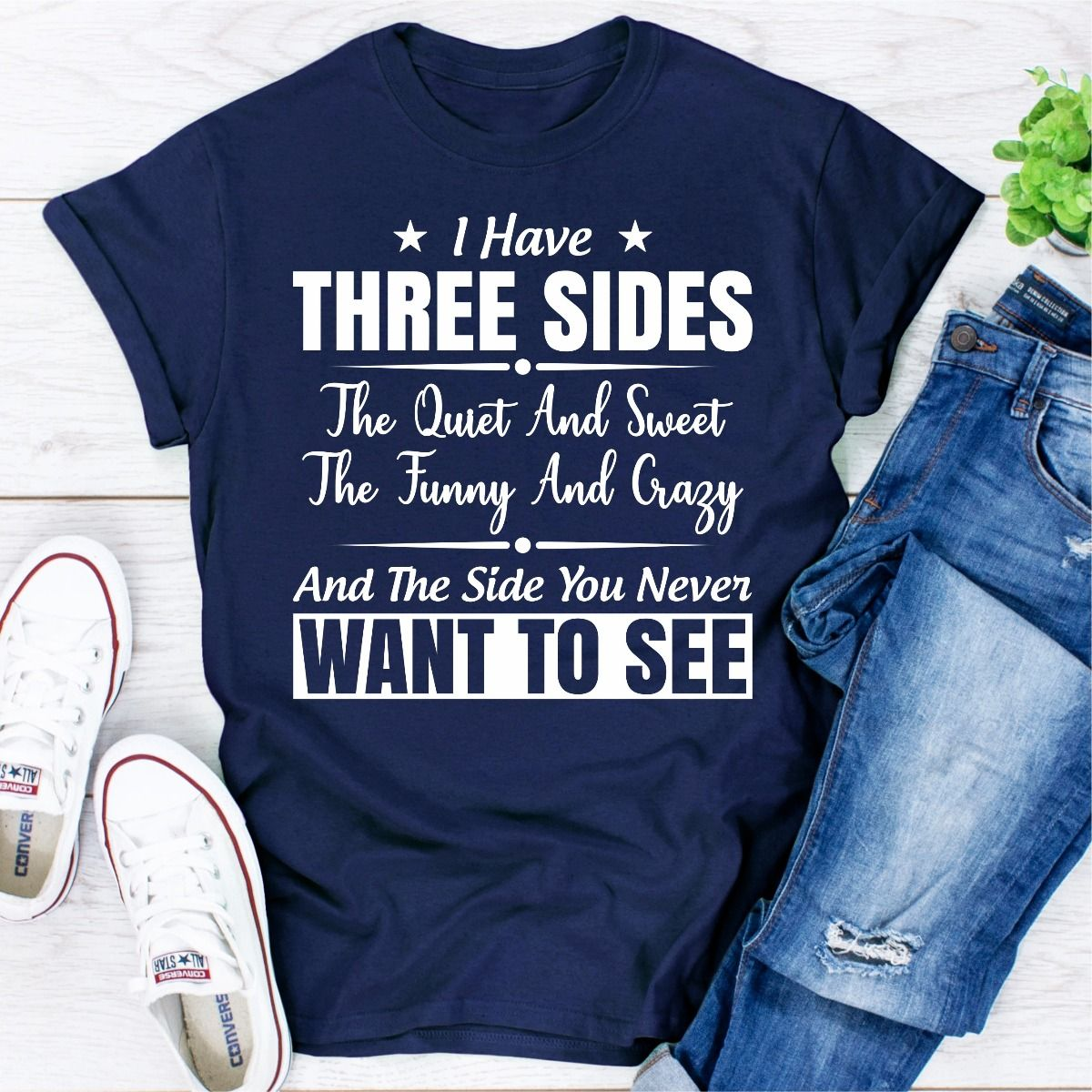 I Have Three Sides (Navy / 3XL)