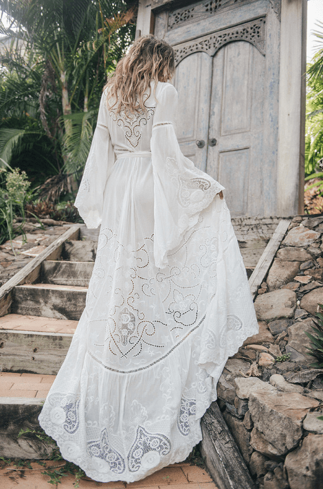 spell designs - Gwyndolyn Wrap Gown | Size: 8 | Bridal Gown | Size 8 | Only $400.00 -   15 wedding Boho hippie ideas