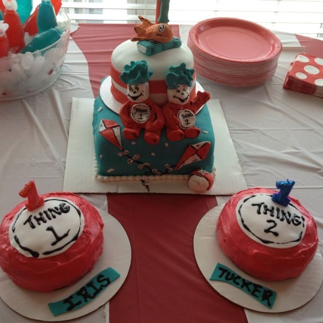 Thing 1 And Thing 2 Kids Cakes Pinterest Cake