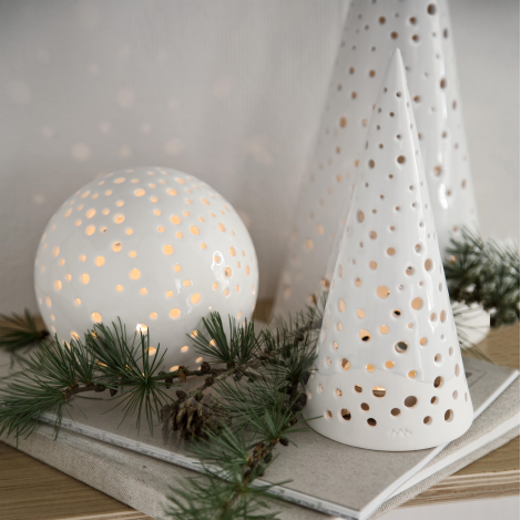 Nobili candle holder medium Tea Light Holder, Christmas Projects, Xmas  Decorations, Ceramic Christmas - Nobili Candle Holder Medium-snow White C For Christmas Pinterest