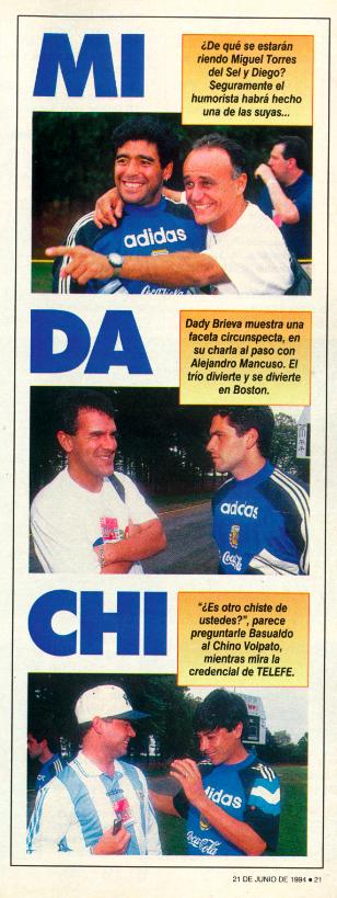 Los MIDACHI en la Revista El Gráfico del 21 de junio de 1994