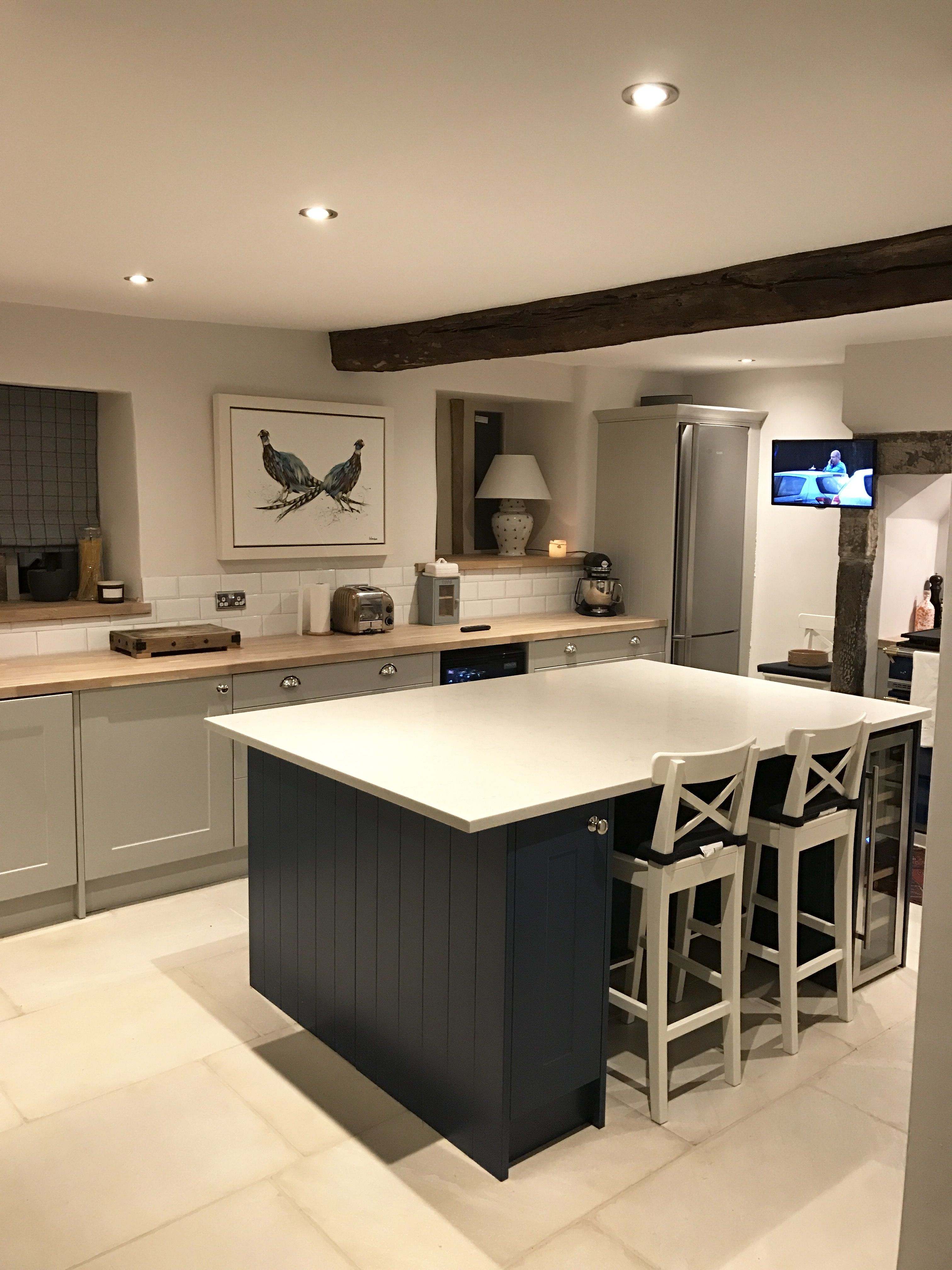 Best Blue Island Kitchen In Yorkshire Cottage Farrow And Ball 400 x 300