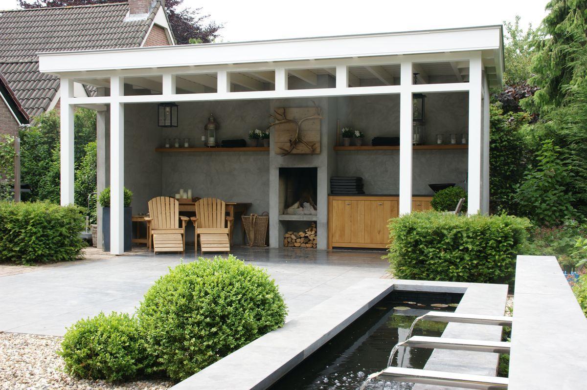 Tuinidee n voorbeelden kleine tuin google zoeken huisje danny en kim pinterest verandas - Veranda modern huis ...
