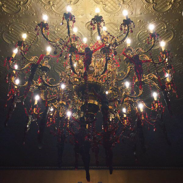 Handmade glass Jesus chandelier from Kat Von D | I NEED THIS ...