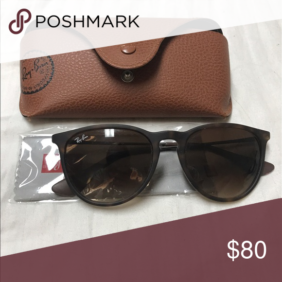 30eb54d98ec Ray Ban Erika Sunglasses Tortoise Very lightly used ray ban Erika style  sunglasses in tortoise color! Original case and wipe included. Ray-Ban  Accessories ...
