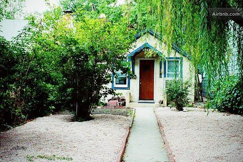 $85 Located near the Navajo Street Arts District, this cozy cottage is private and comfortable. Filled with all the basics needed for an overnight stay or even a weeklong getaway, this budget-friendly rental is perfect for exploring Denver.