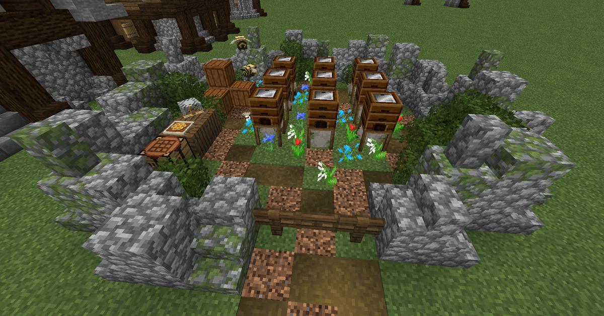 Posted byu/robojay500 3 months ago Bee farm Minecraft farm