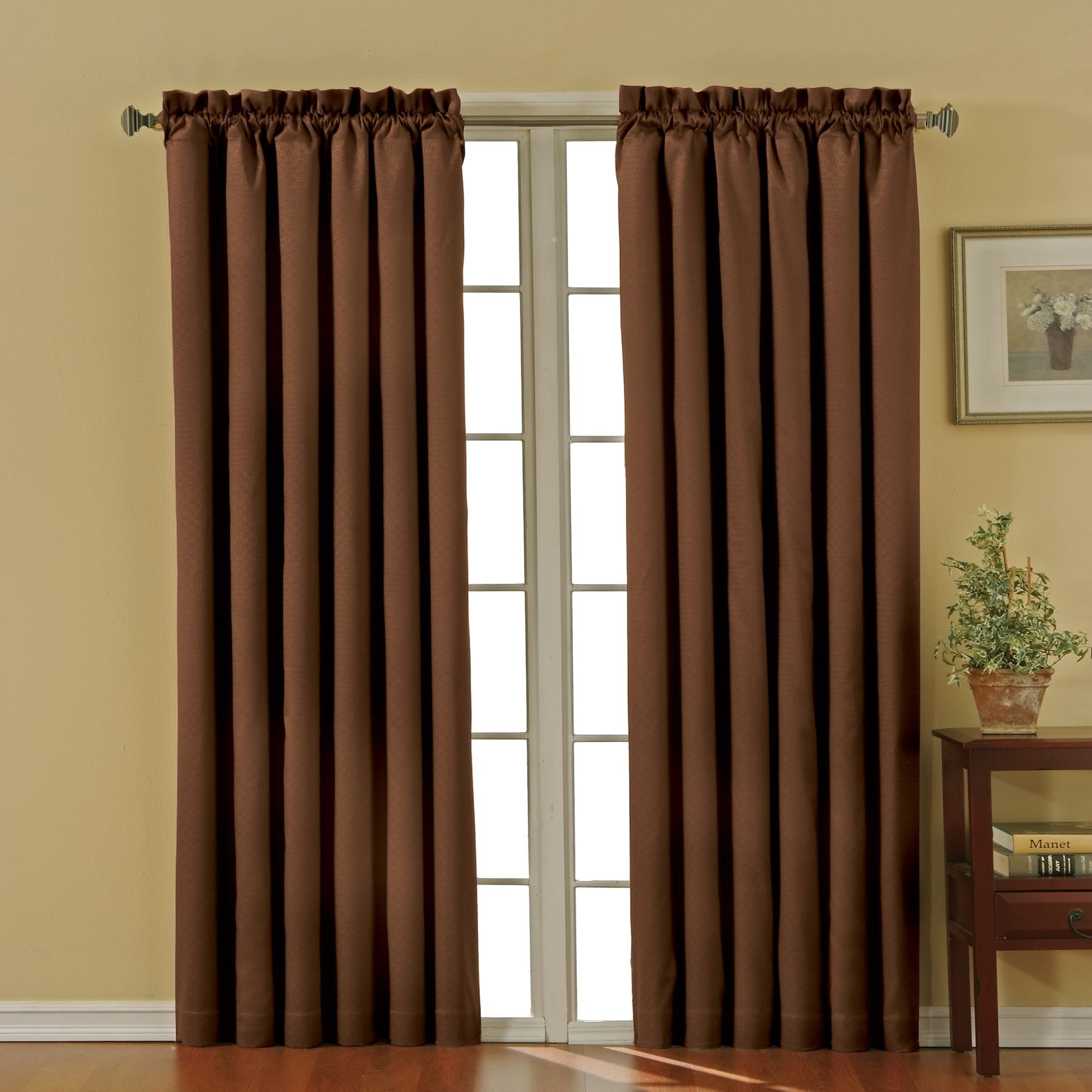 Eclipse Canova Blackout Window Curtain Panel 63 Inch Ivory Beige