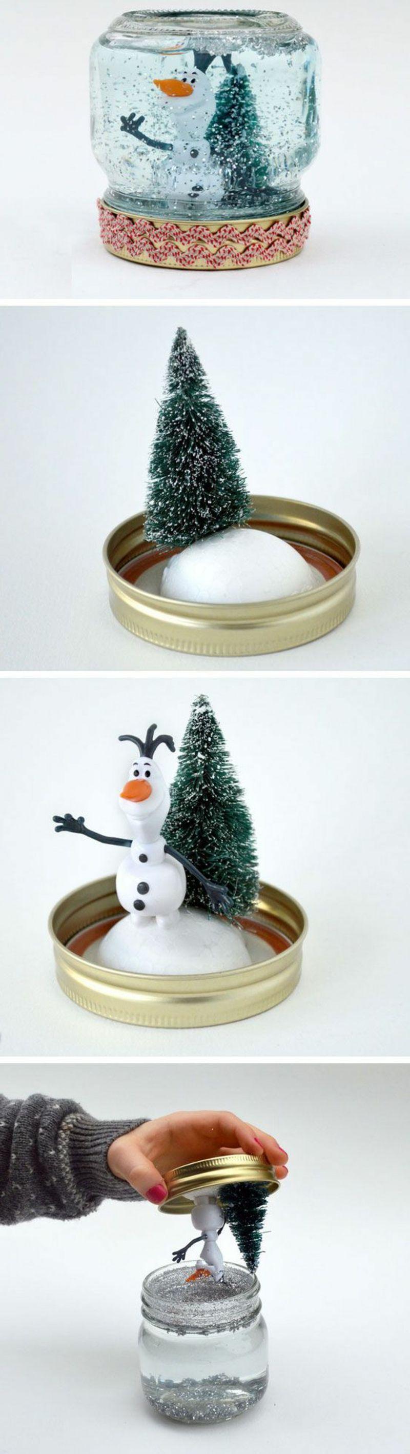 schneekugel selber machen basteln pinterest weihnachten diy weihnachten und basteln. Black Bedroom Furniture Sets. Home Design Ideas