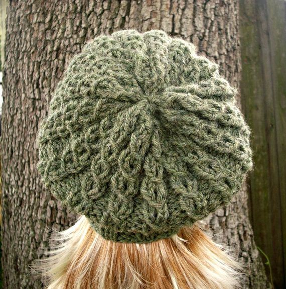 749ded3160fa4b Knit Hat Womens Hat Slouchy Beanie Eyelet Cable by pixiebell ...