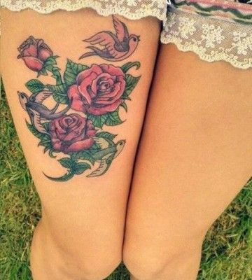Tatuajes Para Mujeres De Flores Grandes Tattoo Tatuajes Pierna