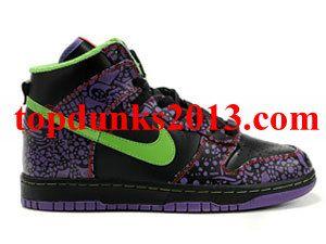 official photos 91f25 bbd70 Original QK Day of the Dead Black sprinter green Premium High Top Nike Dunk