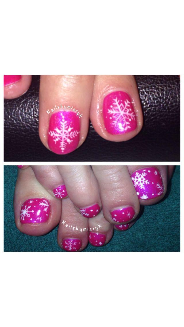 winter nail art. shellac