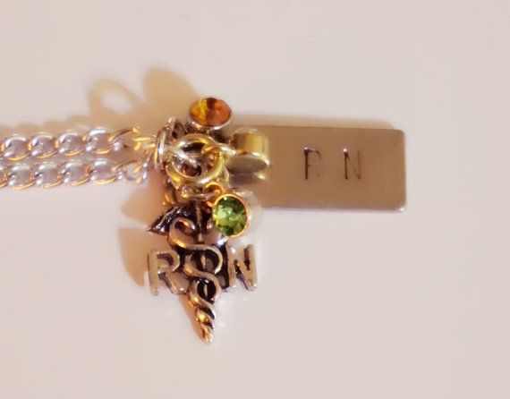 RN Jewelry. Nurse Necklace. Great Gift Idea on Etsy