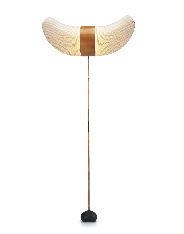 Floor standing lamp / original design / by Isamu Noguchi / paper ...