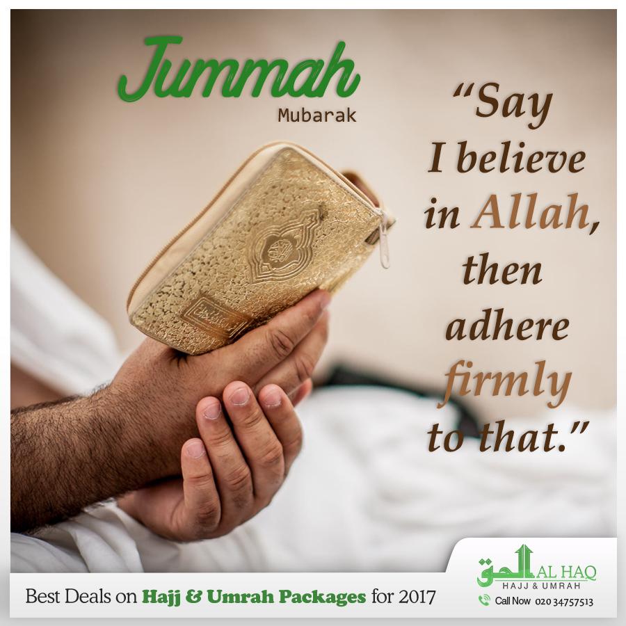 Trust in Allah and always #believe in Him  #Jummah