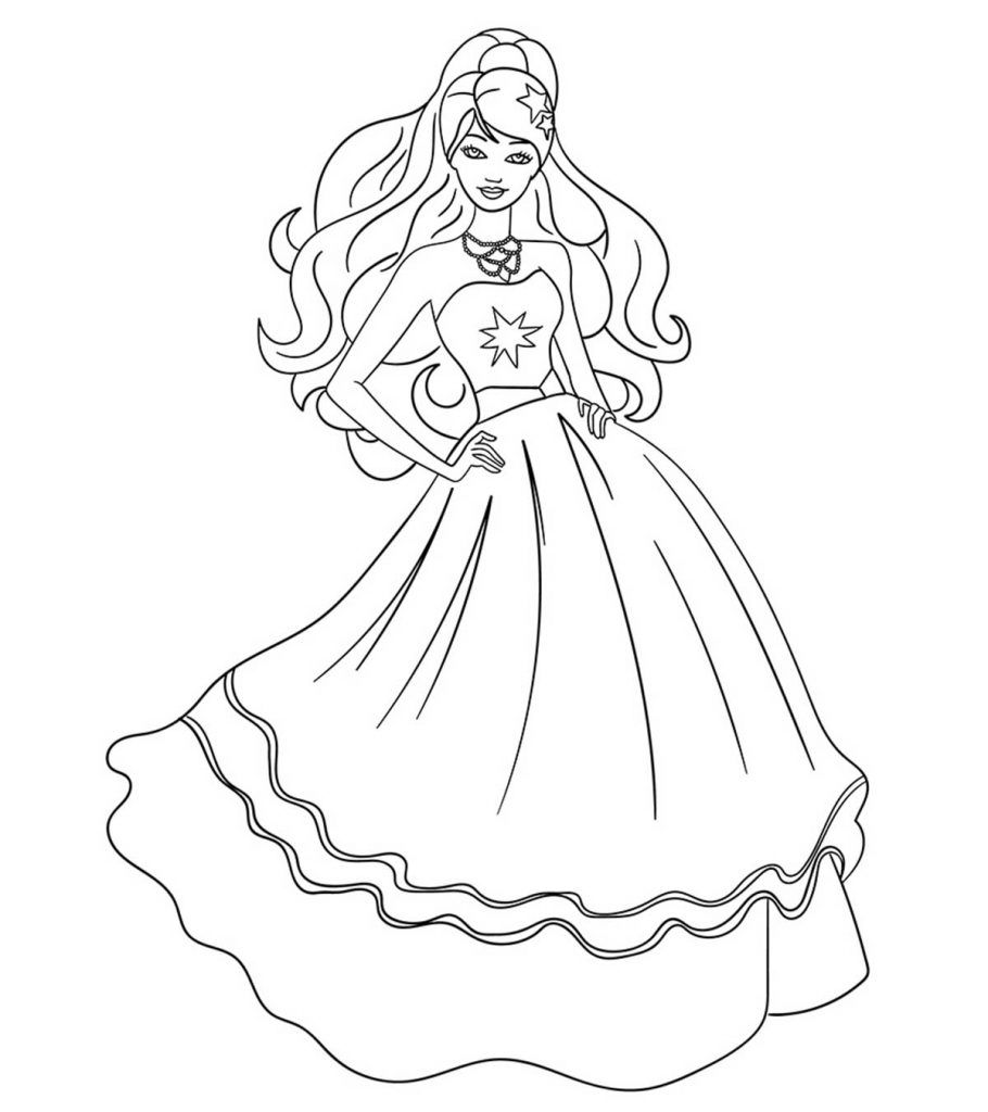 Top 50 Free Printable Barbie Coloring Pages Online Barbie Coloring Pages Barbie Drawing Coloring Pages For Girls