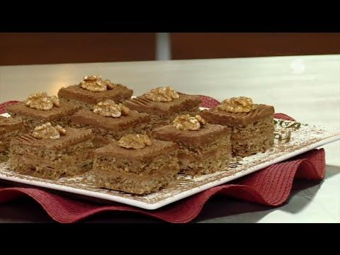 Samira TV : مربعات بالشوكولا و الجوز (1)   بن بريم سميحة ...