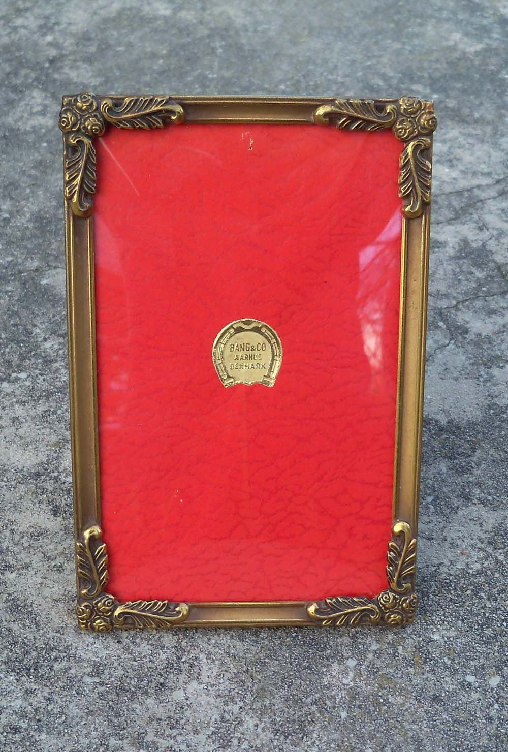 Reduced cute vintage brass bang co aarhus denmark picture aarhus denmark picture frame with convex glass by penaroyal jeuxipadfo Images