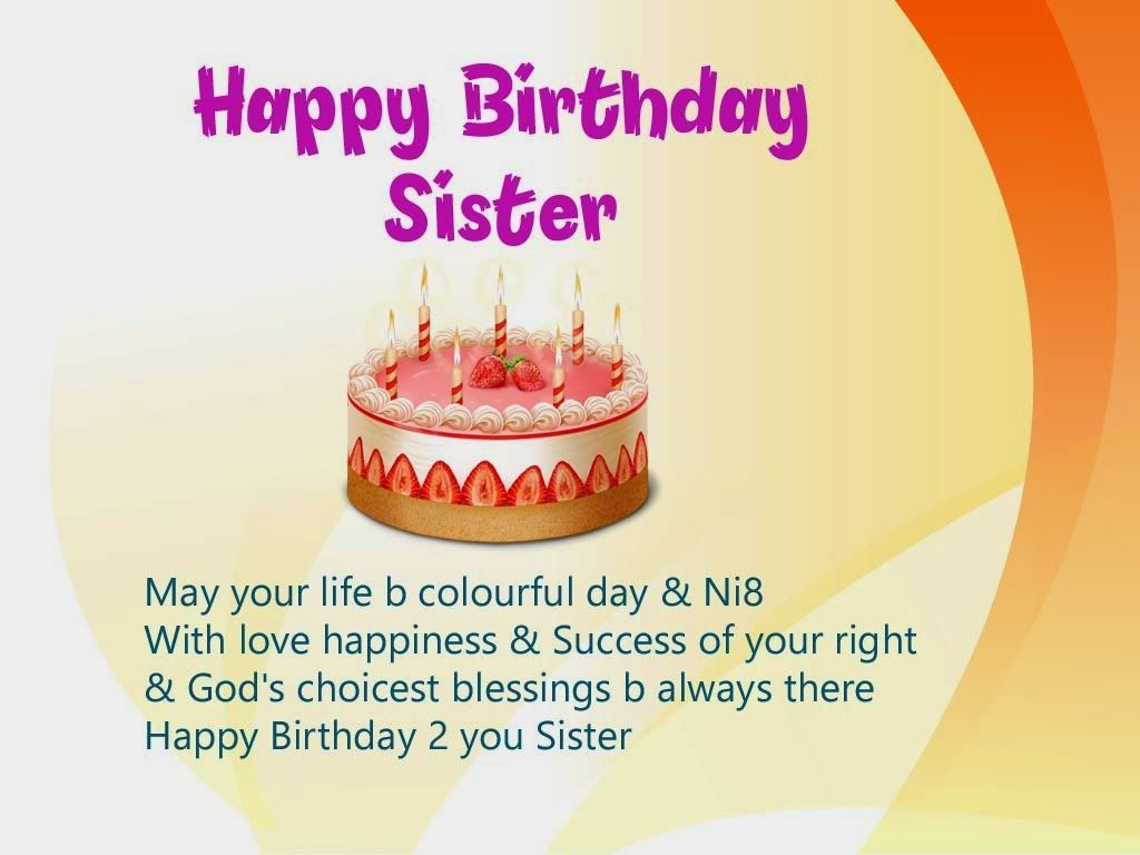 Happy Birthday Wishes For Younger Sister In English If you