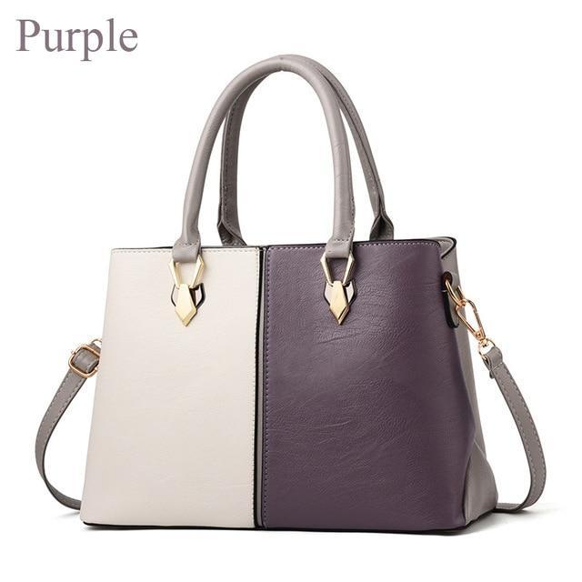 80a7114d52e Women's Luxury Designer Two Tone Leather Shoulder Handbag in 2019 ...