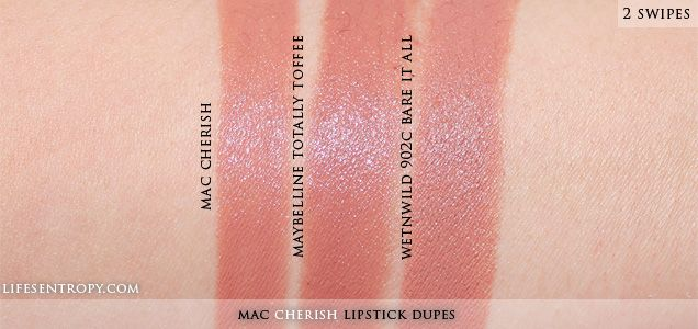 Lifes Entropy: DUPE   MAC Cherish Lipstick   dupe alert