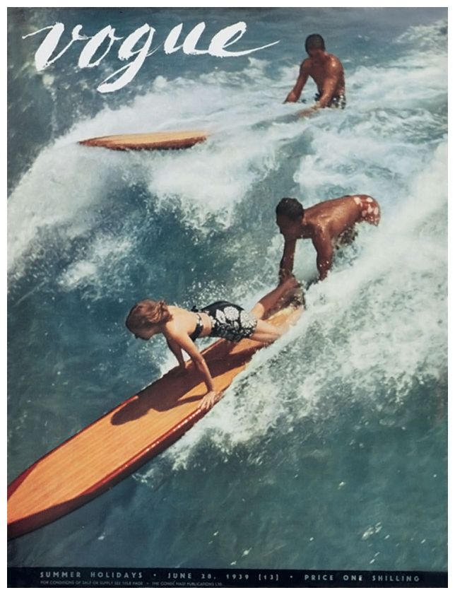 A cover of Vogue US shot in Hawaii, 1938