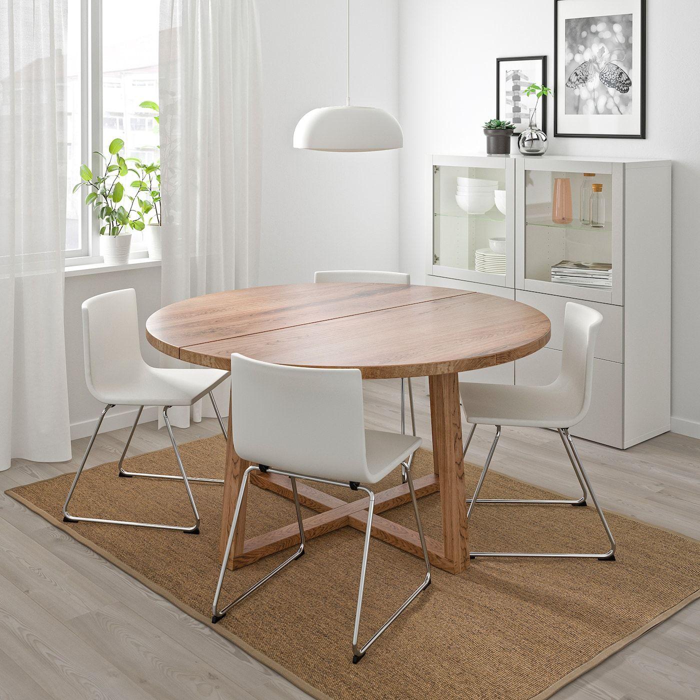 Morbylanga Tisch Eichenfurnier Braun Las Online Oder Im Einrichtungshaus Kaufen Ikea Osterreich In 2020 Ikea Esstisch Rundes Esszimmer Esstisch Eiche