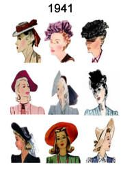 1940 1945 Pictures Of Hairstyles And Hats In 1940s Fashion History Hat Hairstyles Hat Fashion 1940s Fashion
