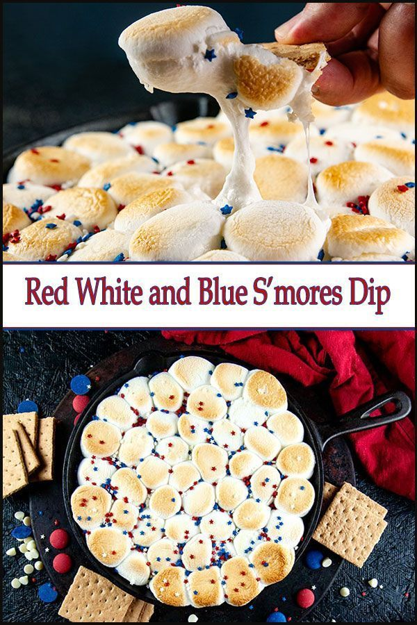 #fourthofjuly #memorial #dessert #skillet #recipes #perfect #fourth #smores #white #labor #easy #blue #this #july #redRed, White, and Blue Skillet S'mores This easy skillet red, white, and blue s'mores dip is the perfect dessert for Fourth of July, Memorial Day, and Labor Day.This easy skillet red, white, and blue s'mores dip is the perfect dessert for Fourth of July, Memorial Day, and Labor Day. #labordaydesserts
