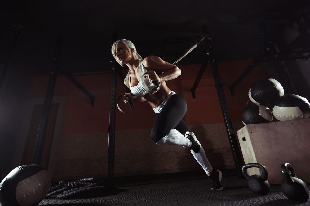 Fitness Woman Workout On Trx Gym #Fitness #On #Trx #Woman #Workout #Gym