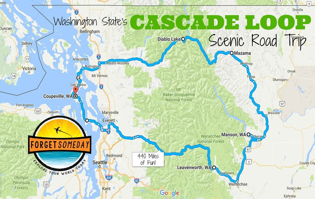North Cascades Highway |North Cascades Highway Map