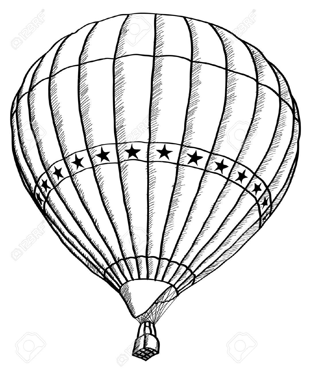 Image result for hot air balloon simple black and white
